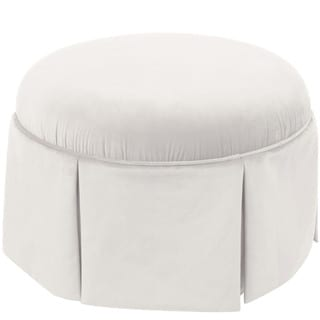 Skyline Furniture Round Ottoman in Velvet
