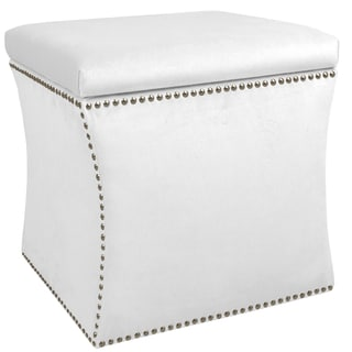 Skyline Furniture Velvet Fabric  Storage Ottoman in Velvet