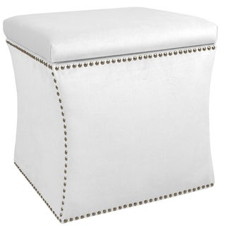 Attractive Skyline Furniture Velvet Fabric Storage Ottoman In Velvet