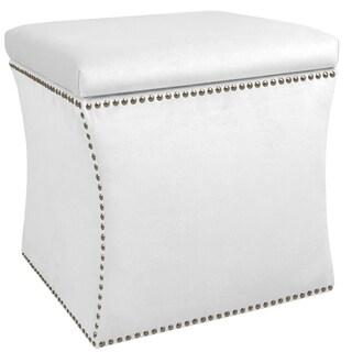 Skyline Furniture Velvet Fabric  Storage Ottoman in Velvet