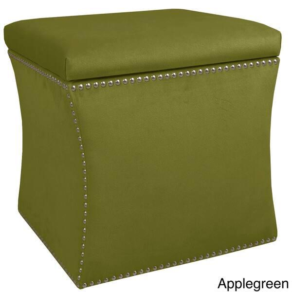 Astonishing Shop Skyline Furniture Velvet Fabric Storage Ottoman In Spiritservingveterans Wood Chair Design Ideas Spiritservingveteransorg