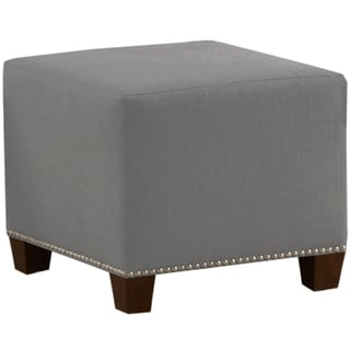 Skyline Furniture Linen Fabric  Modern Ottoman in Linen