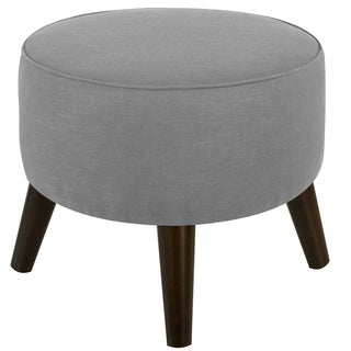 Skyline Furniture Linen Fabric  Round Ottoman in Linen