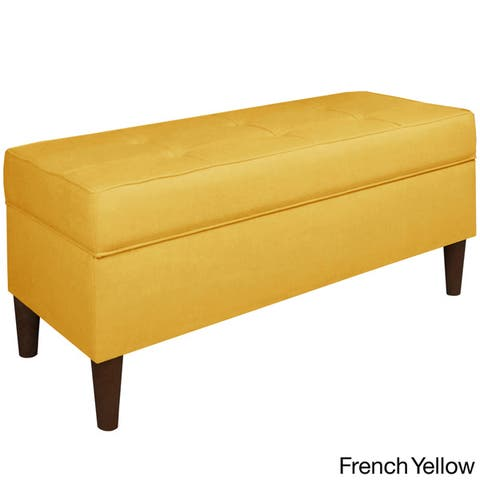 Skyline Furniture Linen Fabric Storage Bench in Linen
