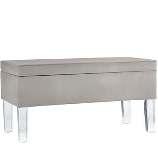 Skyline Furniture Velvet Fabric Storage Bench in Velvet