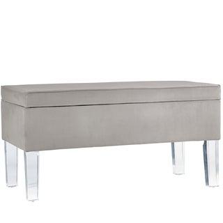 Skyline Furniture Velvet Fabric Storage Bench in Velvet