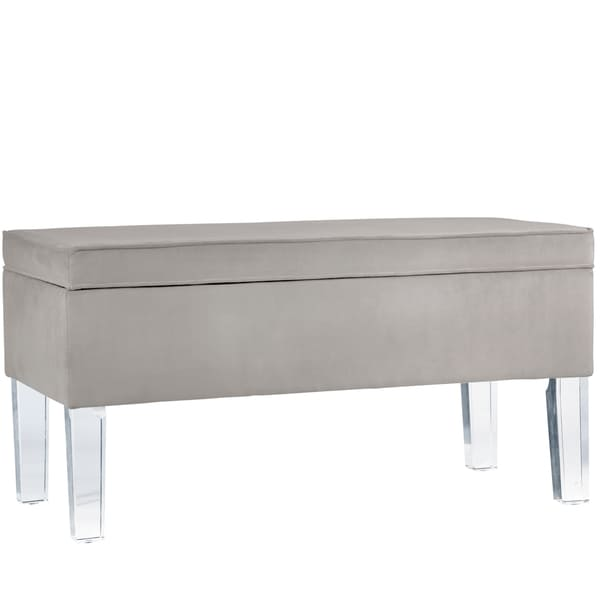 Etonnant Skyline Furniture Velvet Fabric Storage Bench In Velvet