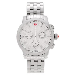 Michele Women's 'Uptown' MWW25A000001 Stainless Steel 1/8 CT TDW Diamond Link Watch