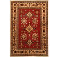 Handmade Herat Oriental Afghan Kazak Wool Rug (Afghanistan) - 3'10 x 5'7