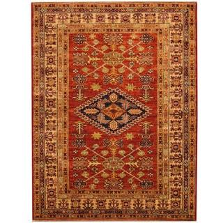 Herat Oriental Afghan Hand-knotted Super Kazak Wool Rug (4' x 5'2)