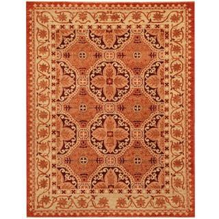 Herat Oriental Afghan Hand-knotted Vegetable Dye Khotan Wool Rug (4' x 5'1)