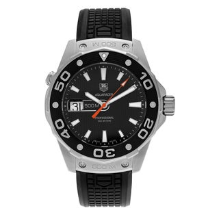 Tag Heuer Men's 'Aquaracer 500M' WAJ1110.FT6015 Black Dial Rubber Strap Watch