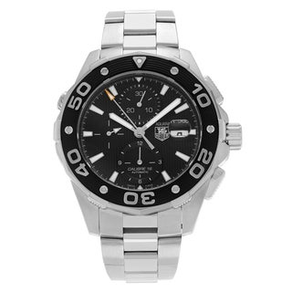 Tag Heuer Men's 'Aquaracer 500M' CAJ2110.BA0872 Stainless Steel Black Dial Bracelet Watch