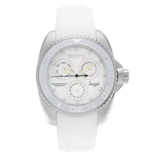 Invicta Women's 21701 'Angel' Stainless Steel Cubic Zirconia Silicone Strap Watch https://ak1.ostkcdn.com/images/products/13490322/P20175224.jpg?impolicy=medium