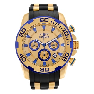 Invicta Men's 'Pro Diver' 22308 Stainless Steel Chronograph Polyurethane Strap Watch