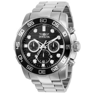Invicta Men's 'Pro Diver' 22226 Stainless Steel Chronograph Link Watch