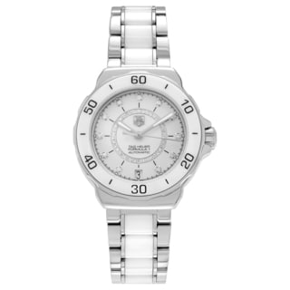 Tag Heuer Women's 'Formula 1' WAU2211.BA0861 Ceramic 1/2 CT TDW Diamond Bracelet Watch