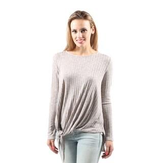 Hadari Women's Fashion Sexy High Low Long Sleeve Tunic Top