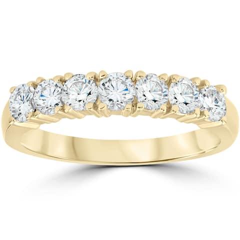 14K Yellow Gold 1 ct TDW Diamond Wedding Anniversary Ring - White
