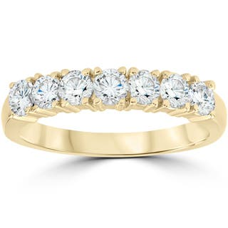14K Yellow Gold 1 ct TDW Diamond Wedding Anniversary Ring|https://ak1.ostkcdn.com/images/products/13516510/P20199007.jpg?impolicy=medium