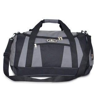 Everest Dark Gray/Black Polyester 20-inch Casual Carry-on Duffel with Wet Pocket
