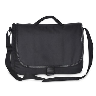 Everest Black Polyester 15.5-inch Classic Messenger Bag