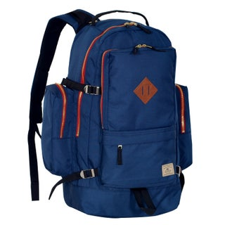 Everest Blue/Black/Green Polyester 19.8-inch Daypack with Laptop Pocket