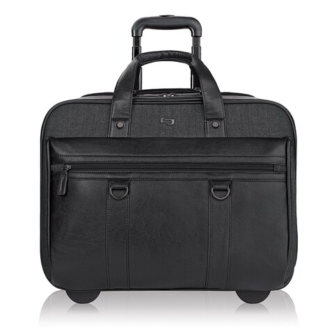 Solo Bradford Black Vinyl 17.3-inch Executive Rolling Laptop Case