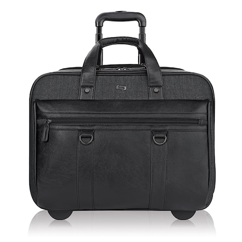 Solo Bradford Black Vinyl 17.3-inch Executive Rolling Laptop Case