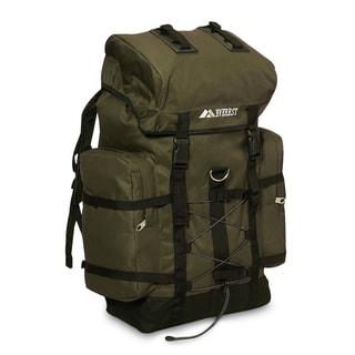 Everest Olive/Black Polyester 24-inch Hiking Backpack