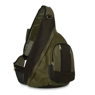 Everest Olive/Black Polyester Sling Backpack