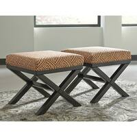 Signature Design by Ashley Leola Curry Accent Ottoman (Set of 2)