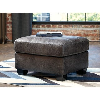 Signature Design by Ashley Inmon Charcoal Ottoman