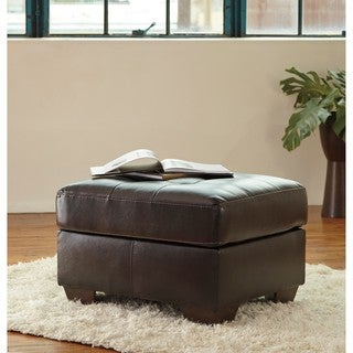 Signature Design by Ashley Coppell DuraBlend Chocolate Ottoman