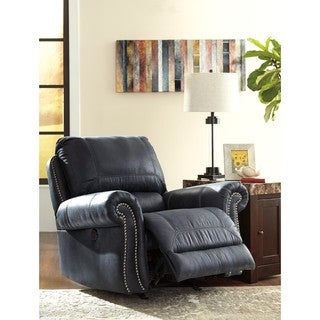 Signature Design by Ashley Milhaven Navy Power Rocker Recliner