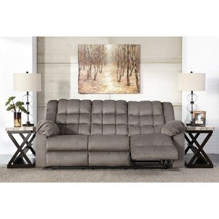 Signature Design by Ashley Mort Charcoal Reclining Sofa