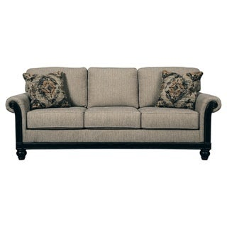 Signature Design By Ashley, Blackwood Traditional Taupe Queen Sofa Sleeper