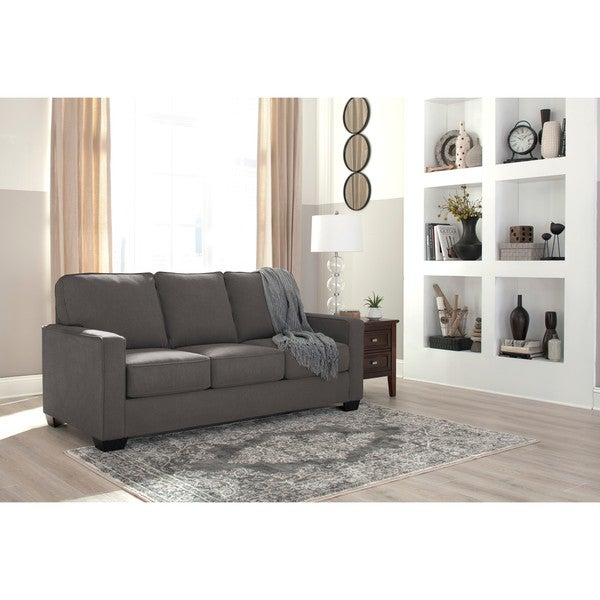Great Signature Design By Ashley Zeb Charcoal Full Sofa Sleeper