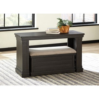 Signature Design by Ashley Sharlowe Charcoal Sofa Table with Ottoman