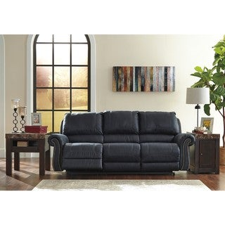 Signature Design by Ashley Milhaven Navy Reclining Power Sofa