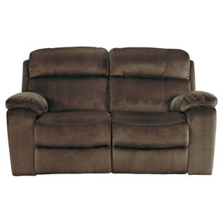Signature Design by Ashley Uhland Chocolate Power Reclining Loveseat with Adjustable Headrest