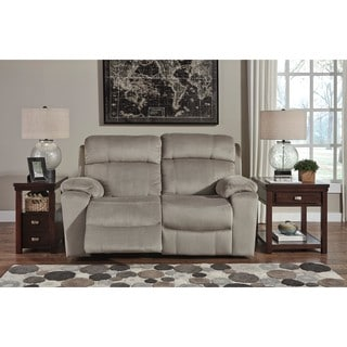 Signature Design by Ashley Uhland Granite Power Reclining Loveseat with Adjustable Headrest