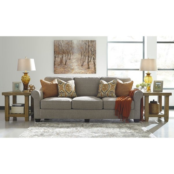 Signature Design By Ashley, Leola Contemporary Slate Grey Sofa