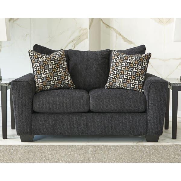 Awesome Shop Signature Design By Ashley Wixon Slate Loveseat Free Machost Co Dining Chair Design Ideas Machostcouk