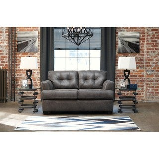 Signature Design by Ashley Inmon Charcoal Loveseat