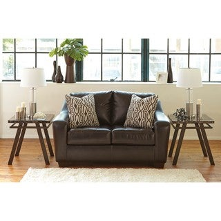 Signature Design by Ashley Coppell DuraBlend Chocolate Loveseat