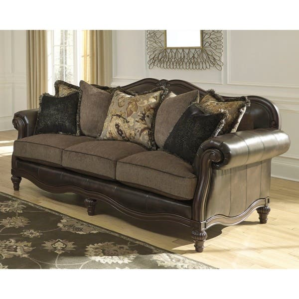 Prime Shop Winnsboro Faux Leather Vintage Sofa On Sale Free Cjindustries Chair Design For Home Cjindustriesco