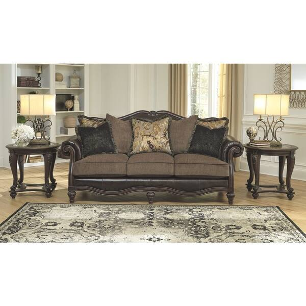 Peachy Shop Winnsboro Faux Leather Vintage Sofa On Sale Free Cjindustries Chair Design For Home Cjindustriesco