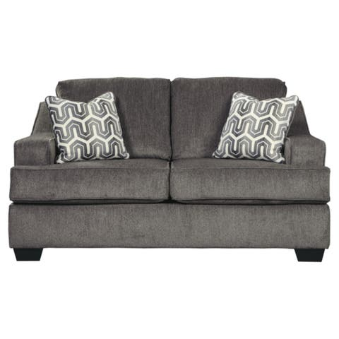 Signature Design by Ashley, Gilmer Contemporary Gunmetal Loveseat