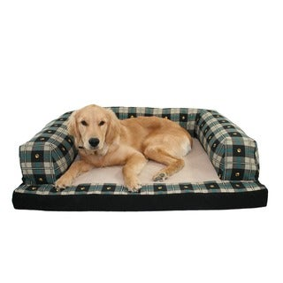 Hidden Valley Baxter Paw Plaid Extra Large Dog Couch
